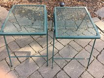 ~TWO WROUGHT IRON SIDE TABLES~PERFECT BY FIRE PIT OR PATIO in Lockport, Illinois