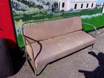 Tan Leather Outside Bench in Fort Riley, Kansas