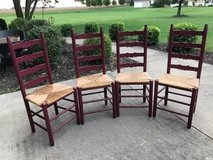 Solid Wood Ladder Back Chairs in Naperville, Illinois