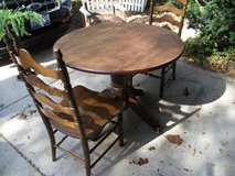 DROP LEAF TABLE & CHAIRS in Chicago, Illinois
