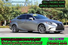 2015 Lexus IS 250 Base Ask for Louis (760)802-8348 in Camp Pendleton, California