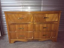 Vintage inlaid 6 drawer dresser in Vacaville, California