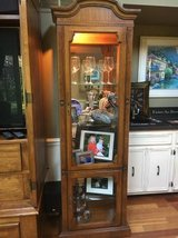 ~WOOD AND GLASS CURIO CABINET~LIGHT INSIDE in Lockport, Illinois
