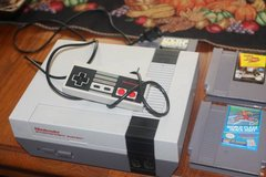 NES Nintedo Game Console and Five Games in Kingwood, Texas