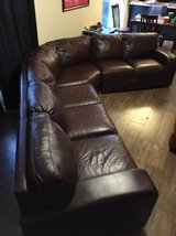 Genuine leather large sectional in Glendale Heights, Illinois