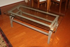 Glass Top ad Metal Base Coffee Table in Spring, Texas
