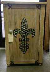 Fleur de Lis Cabinet - End Table - Night Stand - Bruised & Reduced in Aurora, Illinois