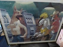 Jackpot Dogs Lithograph in Shorewood, Illinois