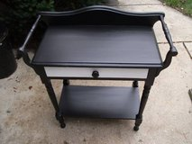 VINTAGE ALL WOOD BLACK TABLE MINT REDUCED in Tinley Park, Illinois
