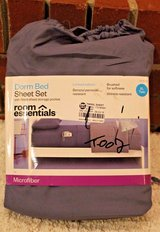 NWT Room Essentials Dorm Bed Sheet Set, Twin XL - Benzoyl Peroxide Resistant! in Aurora, Illinois