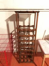 Wood wine and wine glass rack with in Tinley Park, Illinois