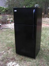 Refrigerator Large Black-Excellent-90 Day guarantee in Macon, Georgia