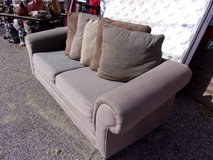 Two Cushion Sofa With Large Pillows in Fort Riley, Kansas