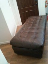OTTOMAN, LARGE TUFTED, LEATHER daybed in Las Vegas, Nevada