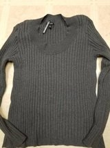 Apt 9 ladies stretchy grey pull over sweater in Oceanside, California