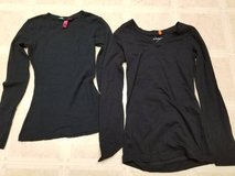 Junior size medium long sleeved black stretchy shirts in Camp Pendleton, California