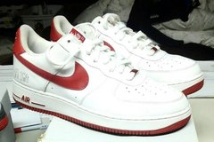 Nike Air Force 1 '07 (Players) White / Varsity Red SZ.12 in Schaumburg, Illinois