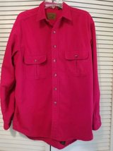 Mens dark red soft shirt button front jacket in Temecula, California