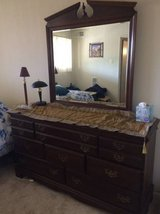 solid wood dresser and mirror in Fort Belvoir, Virginia