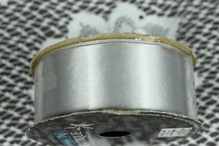 craft ribbon satin 1.5 inch x 4 feet double-sided silver bows crafts wreaths new in Kingwood, Texas