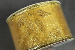 craft ribbon wired edge 2 inch x 9 feet sheer gold  bows crafts wreaths new in Kingwood, Texas