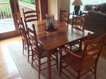 Crate & Barrel Solid Cherry Dining Set in Lockport, Illinois
