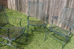 Iron Patio Table and Three Rocker Chairs in Kingwood, Texas