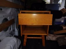 Vintage Heywood Wakefield Maple Wood End Side Table Bamboo Rattan in Roseville, California