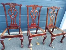 3 mahogany chairs in Sacramento, California