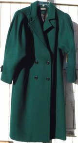 Sz 12 / Large Braetan Forest Green Long Wool Coat in Orland Park, Illinois