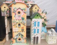 Birdhouses, Cottage Decor, Shelves, Drawers. Avon Cookie Jars. in Conroe, Texas