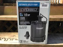 """ NEW ""     Everbilt  1/3  HP  Automatic  Utility  Pump in Elgin, Illinois"