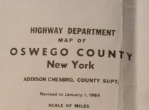 1964 oswego county, new york map 24x20--framable in Clarksville, Tennessee