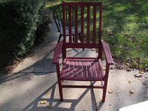 ALL WOOD OUTDOOR CEDAR CHAIR--REDUCED in Tinley Park, Illinois