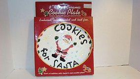 ONLY $1 Cookies for Santa Christmas 8 Round Ceramic Plate in Morris, Illinois