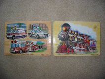 Two Melissa & Doug Sound (& light) Wooden Peg Puzzles in Fort Carson, Colorado