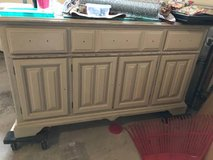 Solid Oak China Hutch in Shorewood, Illinois