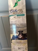 k&h coolin gel pet cot outdoor dog bed 30 x 42 x 7 large blue in Lubbock, Texas