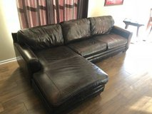 Macys Leather Sectional in Westmont, Illinois