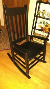 Garden Treasures Black Patio Rocking Chair in Sugar Grove, Illinois