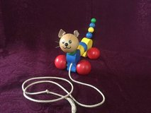 Vintage Wobbly Wooden Cat Pull Toy Lorenz GmbH&Co Germany in Chicago, Illinois