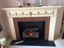 Fireplace - Free Standing with Electric Logs in Perry, Georgia