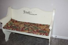 White Bench Perfect for Foot of Bed or Wherever in Kingwood, Texas