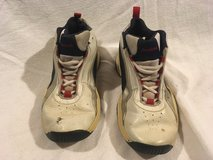 childrens reebok white blue red lace up 3 athletic basketball shoes sneakers  02032 in Fort Carson, Colorado
