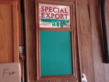 special export beer chalkboard and mirror - like new-great for mancave in Joliet, Illinois