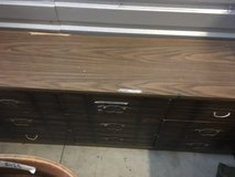 vintage wooden three row nine drawer 71 x 18 dresser  02059 in Fort Carson, Colorado