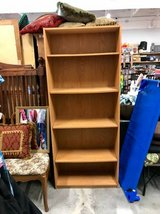 Light Wooden Colored Tall Bookcase Shelving - 72 x 30 x 12 in Camp Lejeune, North Carolina