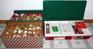 Box of Christmas Ornaments -OR- Storage Bin w/Candles Bags, Bells + in New Lenox, Illinois