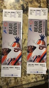 Bears vs Lions 2 First Row United Club Tickets in Westmont, Illinois