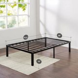 Zinus Quick Lock 16 Inch Metal Platform TWIN SIZE Bed Frame in Oswego, Illinois